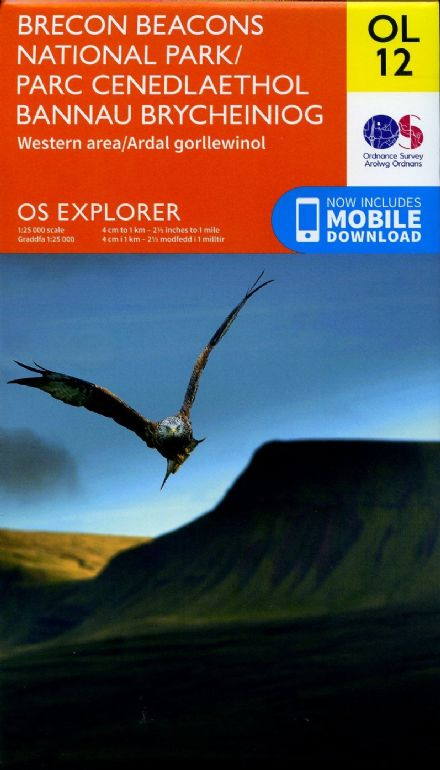 OS Explorer OL 12 Brecon Beacons National Park - Western Area